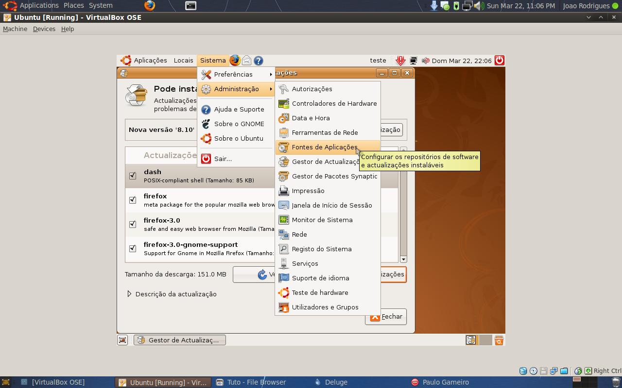 Instalar ou Actualizar o Ubuntu (Exemplo 8.04 para 8.10) 10