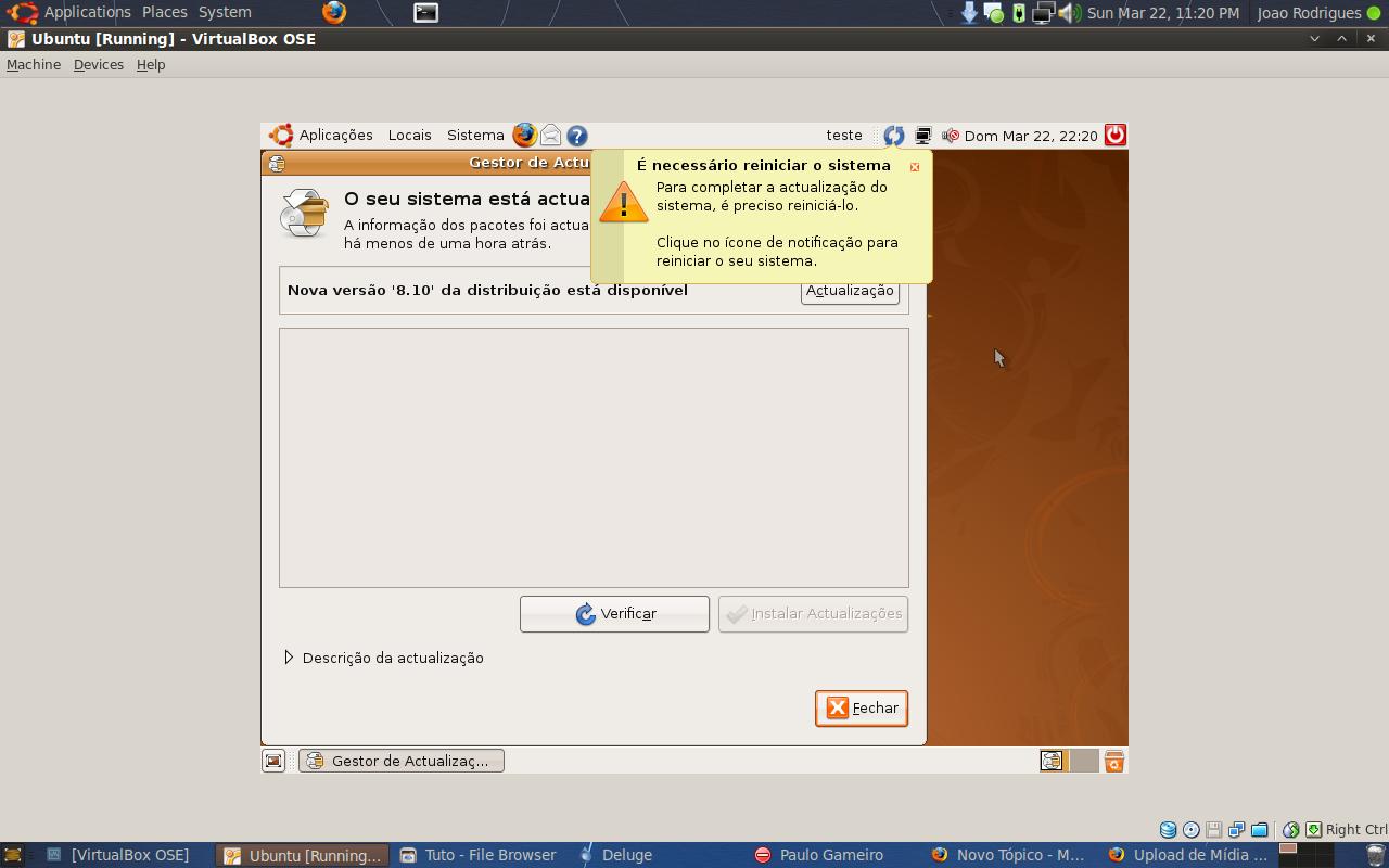 Instalar ou Actualizar o Ubuntu (Exemplo 8.04 para 8.10) 12