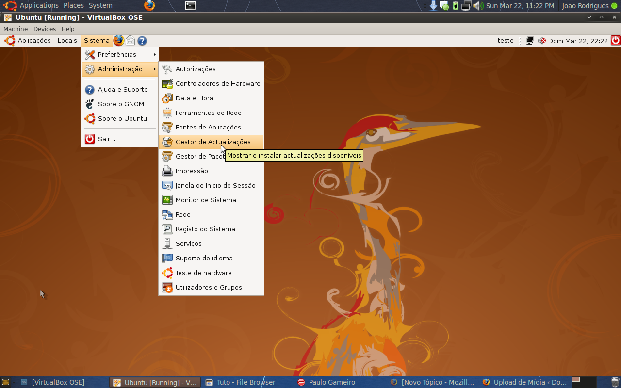 Instalar ou Actualizar o Ubuntu (Exemplo 8.04 para 8.10) 13