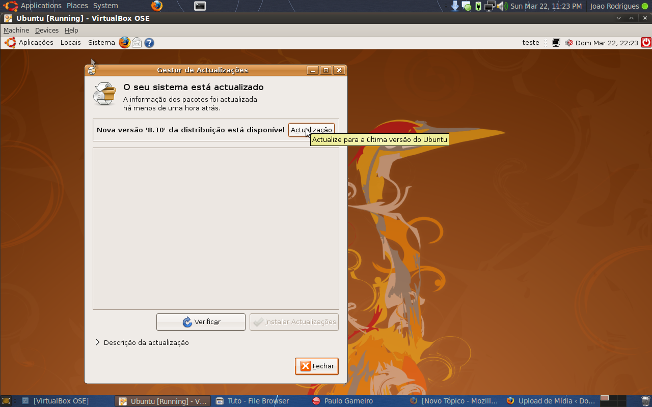 Instalar ou Actualizar o Ubuntu (Exemplo 8.04 para 8.10) 14