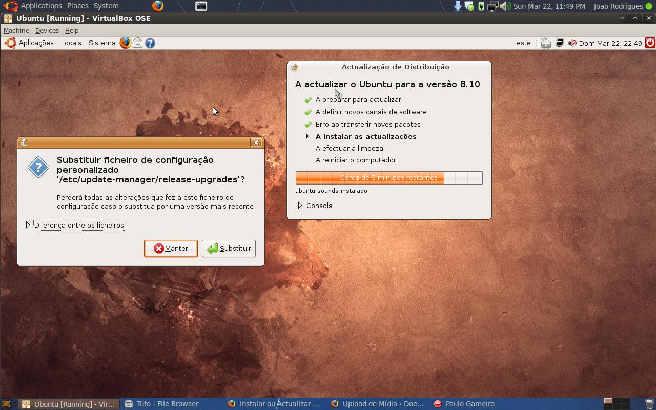 Instalar ou Actualizar o Ubuntu (Exemplo 8.04 para 8.10) 16