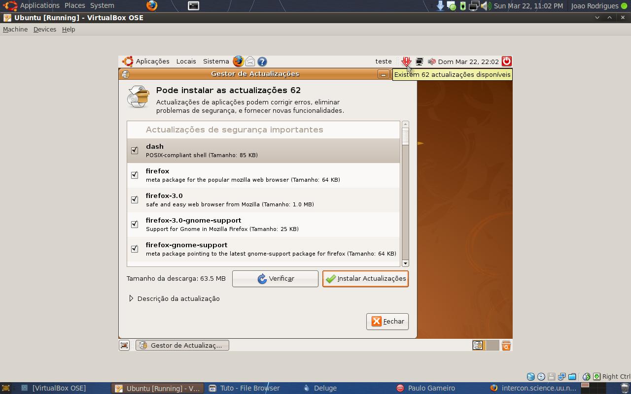 Instalar ou Actualizar o Ubuntu (Exemplo 8.04 para 8.10) 9